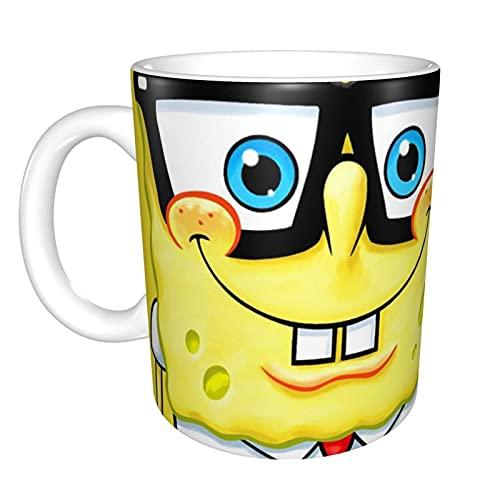 Taza con mango de Bob Esponja – Divertida novedad Unisex Hilarious Cup Taza de café y té tazas de capuchino