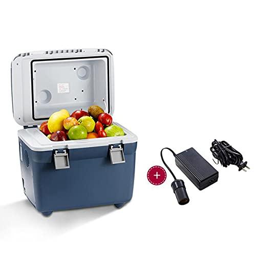 XIAOLIN 20 L Refrigerador De Compresor, Azul, Caja De Enfriamiento 12v DC / 100-240 V AC, Mini Refrigerador para Automóvil, Camión, Barco, Autocaravana Y Toma De Corriente [Clase De Energía A +]