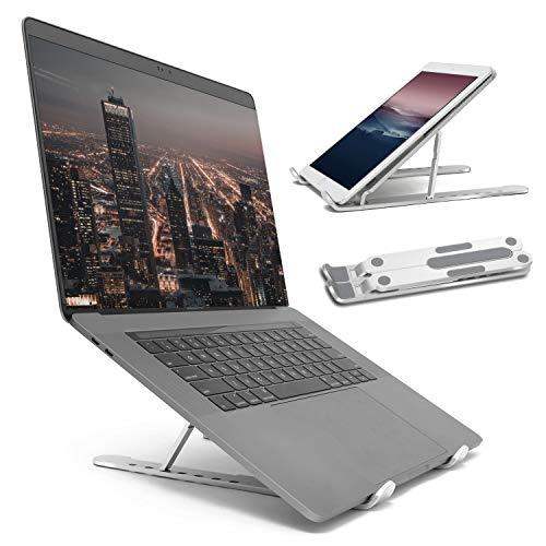 PARACHASE ノートパソコン スタンド パソコンスタンド ノートpc スタンド 折りたたみ式 軽量 持ち運び便利 17.3インチ アルミ製 7段の高さ調節可能 優れた放熱性 PC/MacBook/ラップトップ/iPad対応