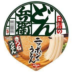 Nissin Donbei Kitsune Udon, Fideos instantáneos Udon japoneses con tofu frito, sabor profundo, 96 g x 6 tazones (6 porciones) Importación de Japón