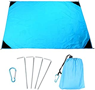OWUDE Sand Proof Beach Blanket, Quick Drying Ripstop Nylon Beach Mat, Waterproof Compact Picnic Blanket for Travel, Hiking...