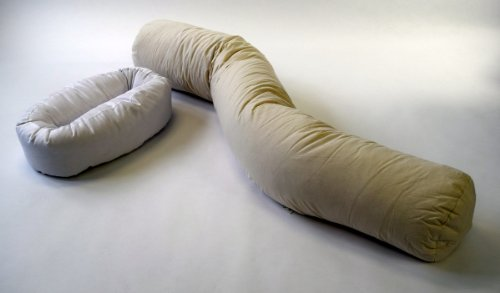 The Original All-natural Curvy Pillow Sleep Set for Total Body Support-patent Pending (White, Large)