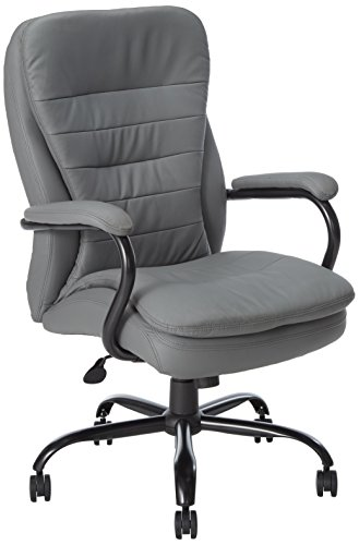 Boss Office Products Heavy Duty Double Plush CaressoftPlus Chair-400 Lbs, Gray