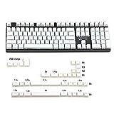 YMDK PBT Double Shot Shine Through ANSI ISO Pudding Keyset Suitable for MX Mechanical Keyboard Corsair Razer Ducky SF KBD75 68 Keychron (White Pudding Full Set)