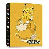 Archivador compatible con tarjetas Pokemon, carpeta de tarjetas, álbum compatible con las tarjetas Pokemon, cubierta de tarjeta para coleccionar, 24 páginas contiene 432 tarjetas (DKC-7)