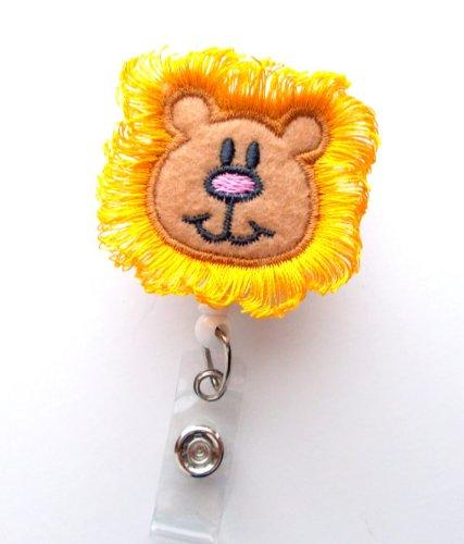 Harry The Lion - Cute Badge Reel - Nurses Badge Holder - Felt Badge Holder - Nursing Badge Holder - Cute Badge Reel - RN Badge Reel - Nurse Photo #3