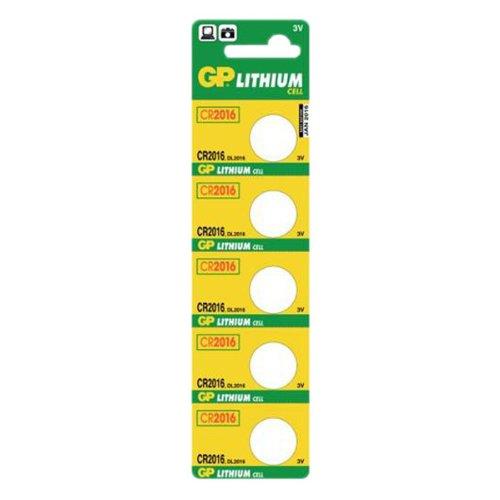 GP Batteries CR2016-C5 Pile bouton au lithium (bande de 5)