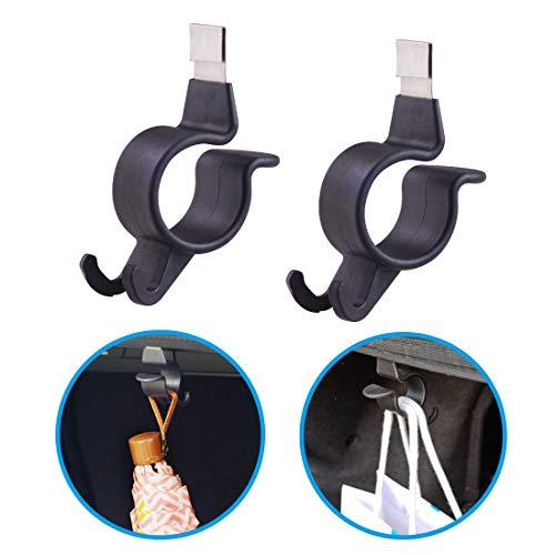 Hypersonic - Ganchos para maletero de coche, 2 unidades, plástico, color negro