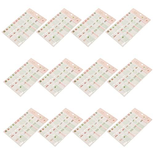 STOBOK 12Pcs Fiore Adesivi Etichette Impermeabile Autoadesivo Adesivi Coperchio Etichette Tag Avvolge Il Sigillo per Bottiglia di Olio Essenziale E Il Cibo Vasetti di Colori Assortiti