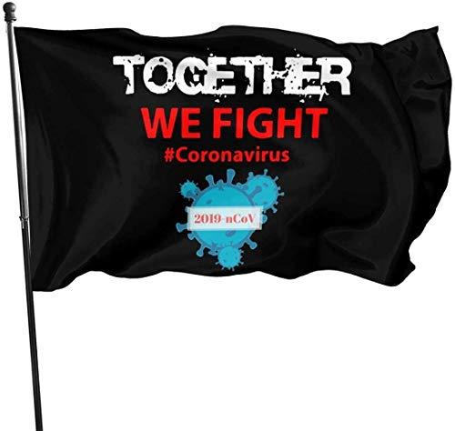KINKA Together We Fight Coron-avirus Flag 3 X 5 Flag for Yard Decoration Banner