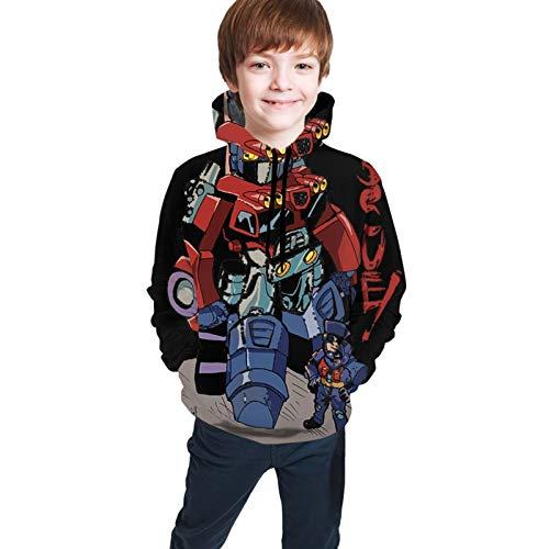 Xuepart Optimus-Prime Jungen Kapuzenpullover Casual Print Sweatshirts Hoodies Pullover Unisex Hooded Sweatshirt Für Jungen Mädchen