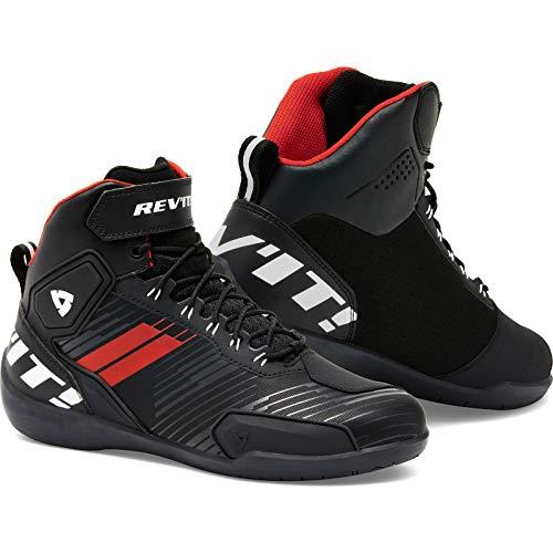 Revit G-Force Zapatos Moto - Negro/Rojo/Blanco, 43