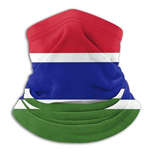 Gambia Flag Neck Gaiter Warmer Windproof Neck WarmerUV Face Balaclava Scarf para Ourdoor Sport Negro