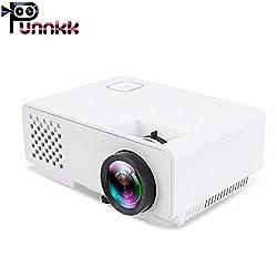 Punnkk P6 Mini LED Video Projector, Multimedia Home Theater Video Projector Supporting 1080P, HDMI, USB, VGA, AV for Home Cinema, TVs, Laptops, Games, Smartphones (P6 Normal),polinter,Punnkk p6