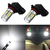 Alla Lighting Super Bright HB4 9006 LED Fog Lights Bulbs 4014 54-SMD LED 9006 Fog Light Bulb 6000K Xenon White HB4 9006 LED Bulbs for Cars Trucks Fog Lights Replacement (Set of 2)