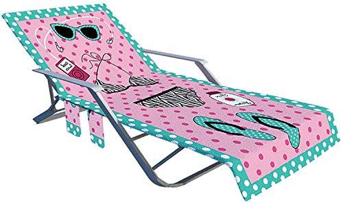 Cubierta de silla de playa a rayas de microfibra, toallas de playa Cubiertas de tumbonas de secado rápido portátil, cubierta de silla de salón para piscinas para vacaciones tomando el sol, silla manta