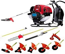 CHIKURA Backpack 10 in 1 Multi Garden Tool Brush Cutter Whipper Snipper Chain Saw Hedge Trimmer Lawn Mower