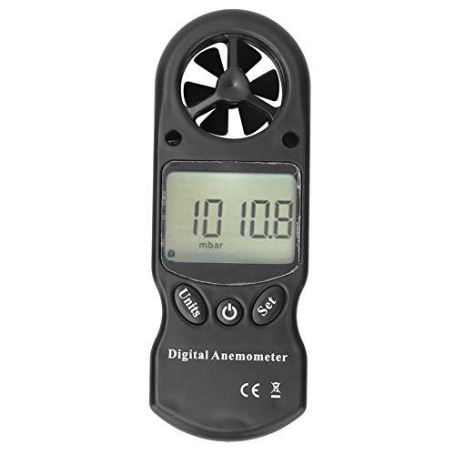 Akozon Medidor de velocidad de viento 8-en-1 Anemómetro digital portátil multifuncional con luz de fondo LCD Medidor de velocidad de viento de mano LCD