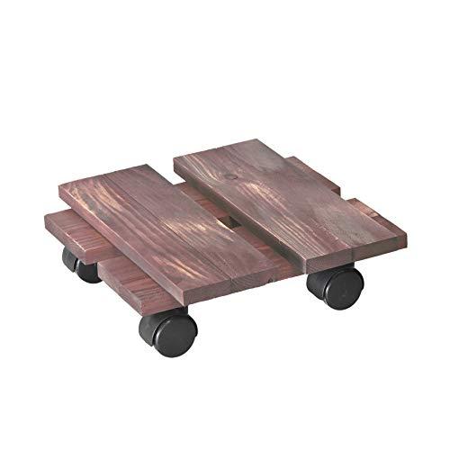 WAGNER Chariot de Plantes LOFT Shabby Chic 28 x 28 x 8 cm   pour intérieur, pin   Style rétro en Bois Massif ondulé, certifié FSC®, Brut de sciage, Mauve   Capacité de Charge 100 kg - 20085801