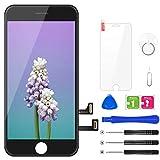 BuTure Pantalla Táctil LCD para iPhone 7 4.7 ' Negro, Pantalla para iPhone 7 con herramientas de reparación y protector de pantalla