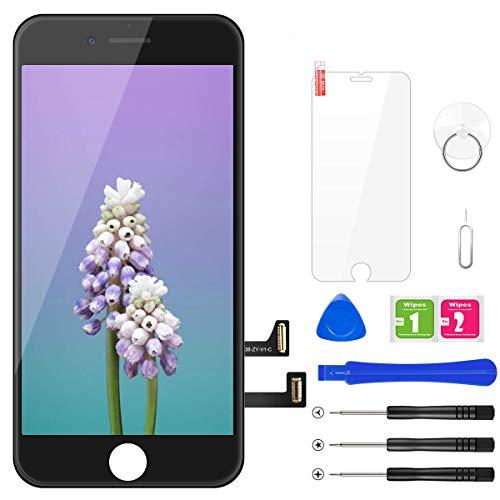 "BuTure Pantalla Táctil LCD para iPhone 7 4.7 \"" Negro, Pantalla para iPhone 7 con herramientas de reparación y protector de pantalla"