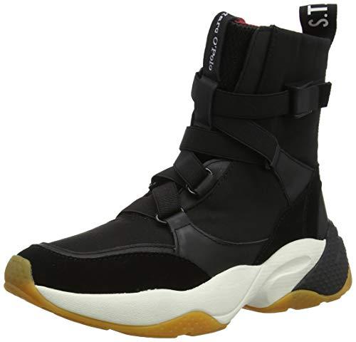 Marc O'Polo Damen 90815233505610 Hohe Sneaker, Schwarz (Black 990), 38 EU