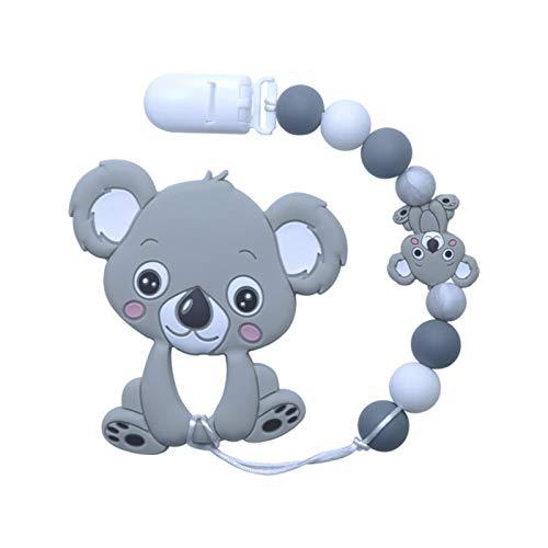 Landia Baby Tandjes Ketting mooie Koala Uil Paard Koekjes Baby Bijtring Molaire Speelgoed Gift Wasbeer Food Grade Siliconen Kralen