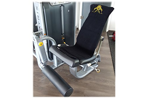 Fitnesshandtuch mit Fixierung / Kraftsport / Fitness / Fitnessstudio – 100 % Baumwolle Ð 2er Set schwarz - 5