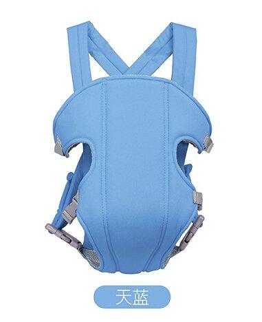 Flikool Ergonomico Fular Portabebes Respirable Mochila Portador de Bebe 3 en 1 Front Back Baby Safety Carrier Infant Comfort Backpack Sling Wrap - Azul
