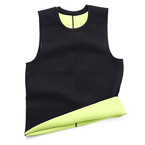 Rugsteungordel Waist Trainer Afslanken Belt Belly Mens Sauna Vest Body Shaper neopreen Buik Fat Burning Shaperwear Sweat Corset Weight Loss brace Lumbale (Color : Black, Size : S)