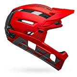 BELL Super Air R MIPS Casco para Bicicleta de montaña, Hombre, Mate/Rojo Brillante/Gris, M   55-59cm