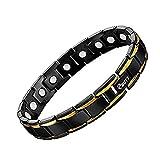 Bracelet for men Titanium Black & Gold