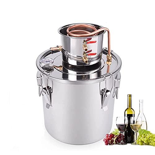 Termómetro Integrado De Acero Inoxidable Para Destilador De Alcohol Y Agua Para Elaboración De Cerveza Casera, Moonshine Still,10l