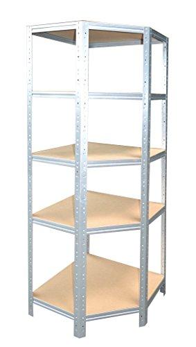 shelfplaza® HOME Eckregal 200x60x30 cm verzinkt mit 5 Böden - für 30er Tiefen - Kellerregal Lagerregal Metallregal Garagenregal Regalsystem Fachbodenregal Werkstattregal Haushaltsregal