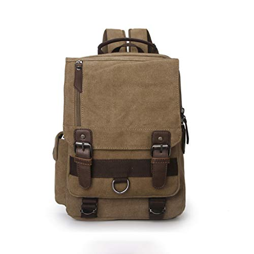 Modieuze Canvas sporttas, wandelrugzak, multifunctionele laptoptas voor heren, 12 inch