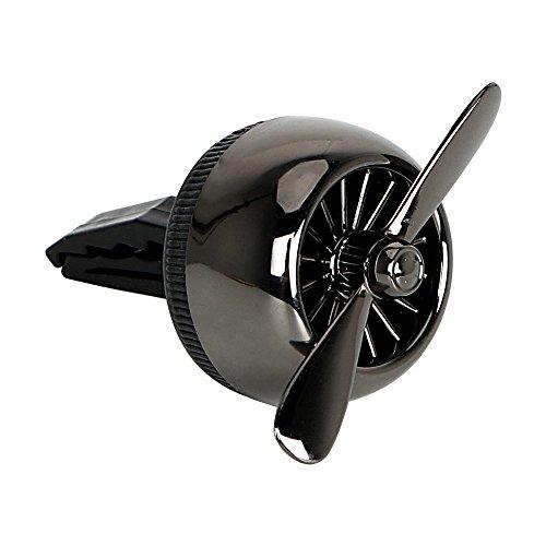 Itimo Grille d'aération de voiture Parfum solide Parfum Désodorisant Air Conditioning Vent Clip (Noir)