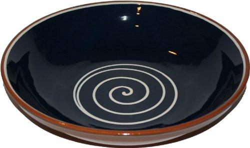 Amazing Cookware Bol en Terre Cuite Motif Spirale Bleu/crème 38 cm