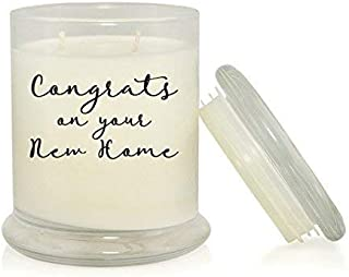 Congrats On Your New Home 8.5 oz Soy Candle - Housewarming Gift - Relocation Gift - Clean Cotton Scented