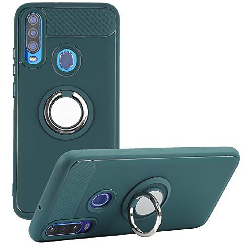 8Wireless NUU Mobile X6 Case, Rotating Ring [Magnetic Car Mount] [360°Kickstand] Holder [Fashion] Soft TPU Protection Cover Case for NUU Mobile X6 (Army Green)
