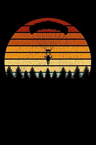 Fallschirmspringer Notizbuch: A5 Kariert 108 Seiten - Vintage Sonne Fallschirmspringen Notizheft - Geschenk für Skydiver