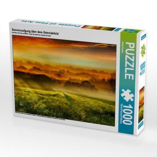 CALVENDO Puzzle Sonnenaufgang über dem Getreidefeld 1000 Teile Lege-Größe 64 x 48 cm Foto-Puzzle Bild von Peter Roder