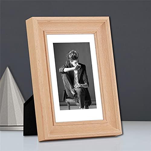 CACAIMAO Cornice per Foto in Legno Massello Bianco, Cornice per Foto Rettangolare in Faggio Bianco, Decorazione da Scrivania per Ufficio Camera da Letto Soggiorno 1 Pz 10.2cm*15.2cm