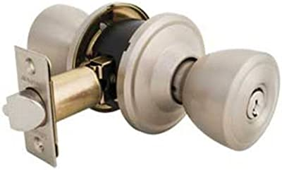 Master Lock TPCR115 Keyed Entry Knob with Recodable Cylinder, Satin Nickel