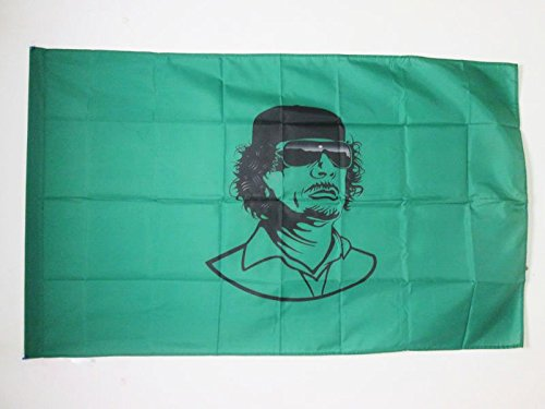 AZ FLAG Flagge LIBYEN MIT KHADAFI 150x90cm - LIBYEN Fahne 90 x 150 cm Scheide für Mast - flaggen Top Qualität