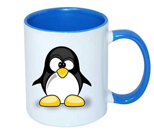 Druckerlebnis24 Taza – Animal lindo pingüino Tux – taza de café 330 ml – tamaño único de cerámica – té