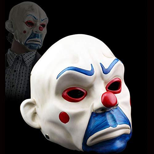 SEJNGF Resina De Halloween Máscara De Ladrón Payaso Batman Caballero Oscuro Joker Adulto Manual Prop Personajes De Película Disfraz