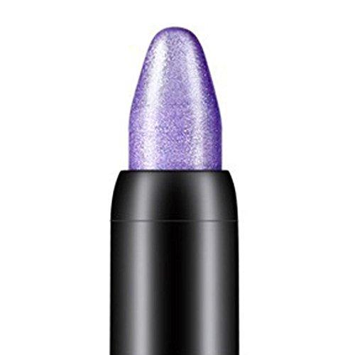 Tonsee Femmes Beauté Surligneur Crayon À Paupières Cosmétique Glitter Ombre À Paupières Eyeliner Stylo Outil De Maquillage Portable, 116cm (Violet)