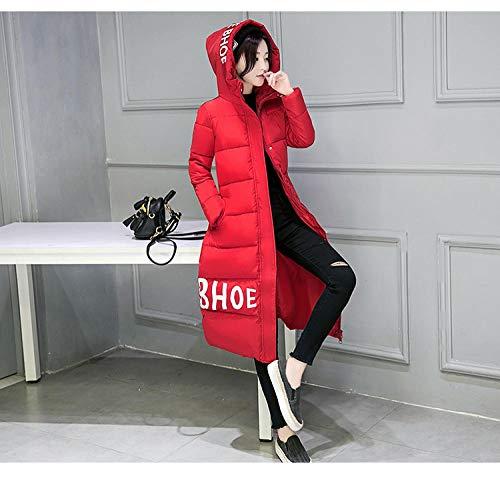ZTCoats Daunenmantel Damen,Frauen Rote Down Parka Herbst Winter Jacke Frauen Mäntel Weiblichen Oberbekleidung Lange Lady Kleidung Weiß, Baumwolle Rot Frau - M
