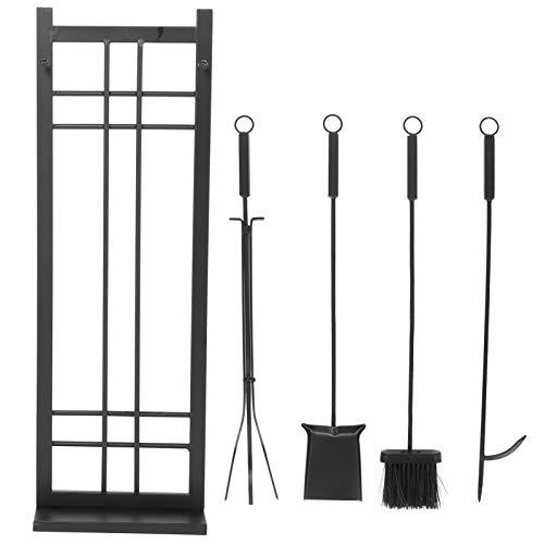 Dioche - Estuche de herramientas para estufa de hierro, revestimiento antioxidante, estuche de herramientas para chimenea de hierro forjado, muy adecuado para la decoración del hogar