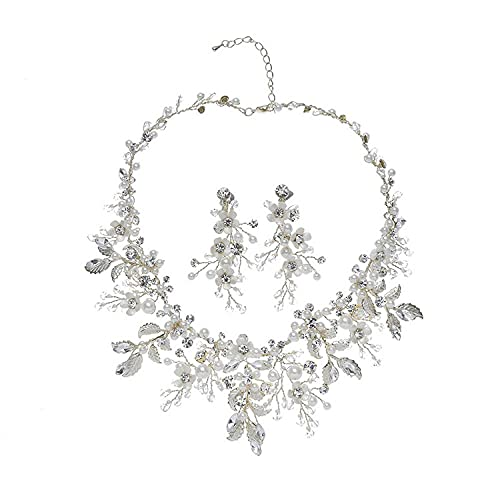 Z929, tocado de novia barroco europeo y americano, pendientes de corona, conjunto de collar, accesorios para el cabello, accesorios para vestido de corona de princesa